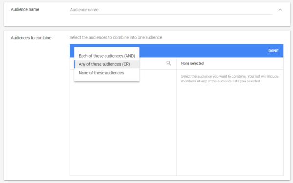 Google Ads Remarketing List Option 5