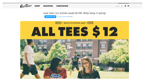 Nickell and DeHart launched an official Threadless website