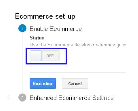 Setting Up Enhanced Ecommerce Feature
