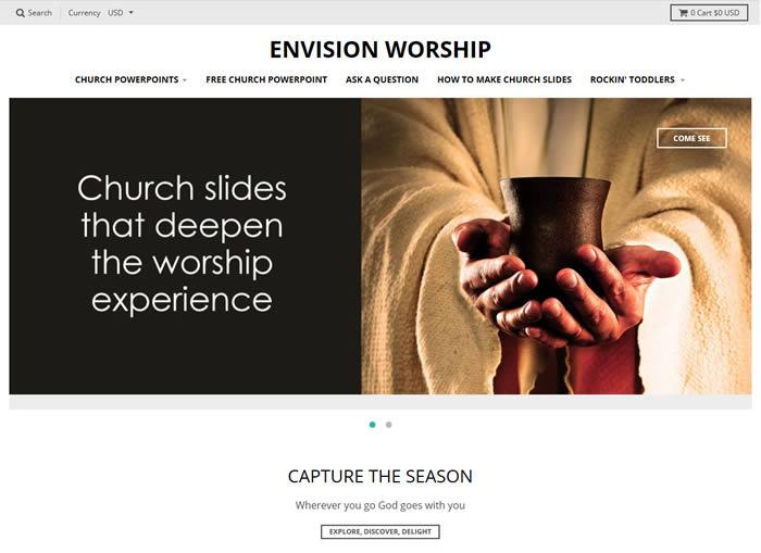 Envision Worship screen 1