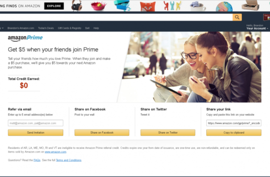 Amazon Prime – Referral Landing Page