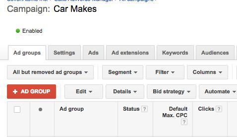 Create an Ad Group and an Ad