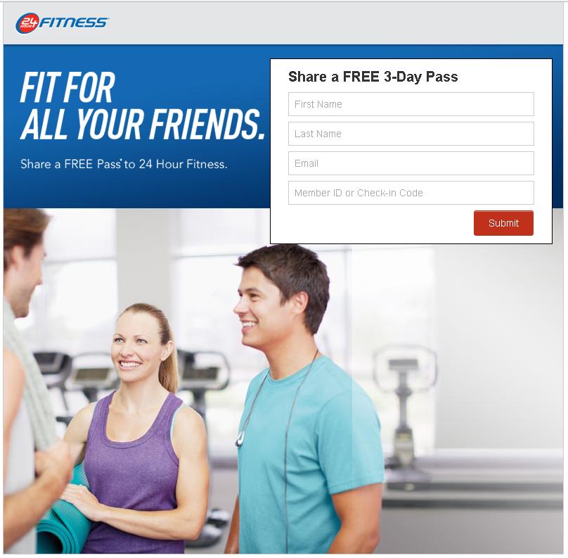 Hour Fitness – Referral Landing Page