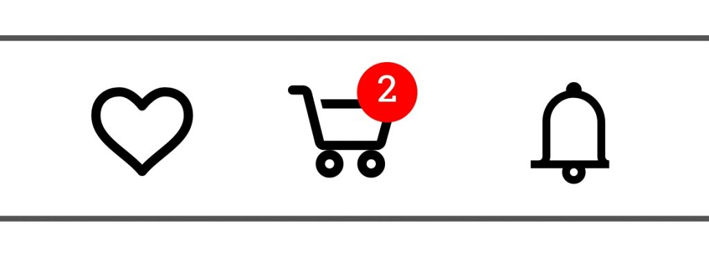 The shopping cart should always be visible throughout the buying process
